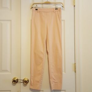 Pale pink high waisted side zipper pants